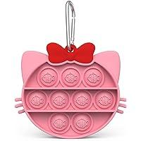 Yiran Chat Jouets Anti-Stress - Fidget Toy - Minou Push It - Pop Bubble - Jouets Sensoriels à Presser en Silicone pour…