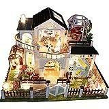 LINAG Puppenhaus Häuser Minipuppen Mini-Szene Zuhause Einrichtung Spielzeug Möbel DIY Village Zubehör Szenenspielzeug Gebäudemodell Geburtstagsgeschenk Doll-3127