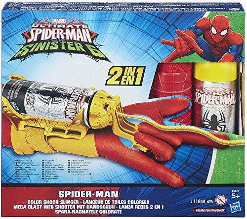 Marvel Ultimate Spider-Man Web Warriors Iron Spider Color Shock Slinger by Spider-Man