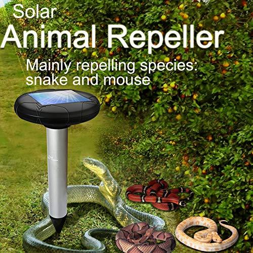TAOtTAO Solar Ultraschall Schädlingsbekämpfer Sonic Mole Vole Schlange Ratte Nagetier Abwehrmittel 2 stücke Neuer, heiß verkaufender Solar-Repeller mit Ultraschall-Eichhörnchen-Schlagenabwehr
