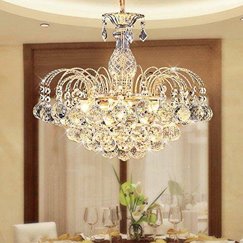 YFF@ILU Luxus s Gold Kristall Beleuchtung, Durchmesser 60 * 41 cm Esszimmer Kronleuchter (Gold Finish Kristall-kronleuchter)