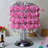 Hochzeitsgeschenke Geburtstagsgeschenke Aromatherapie Tischlampe Tanabata Girl Freundin Kreative Romantische Rose Schlafzimmer Nachttischlampe (Color : Pink)