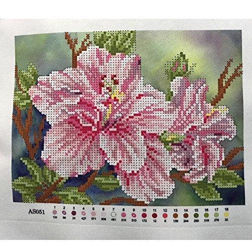 Perlenstickerei Komplett Set Lilien 25x19 cm 0616-4