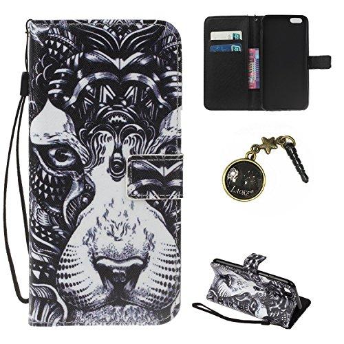 iPhone 7 Hülle,iPhone 7 case vintage ledertasche, Handy Schutzhülle für Apple iphone 7(4.7 Zoll) Hülle Leder Wallet Tasche Flip Brieftasche Etui Schale (+Staubstecker) (8) 1