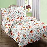 Swaas Flora Double Printed Cotton Bed Sh...