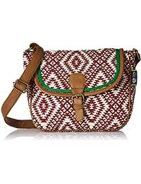 Kanvas Katha Women's Sling Bag (Maroon) (KKSLJQ015)