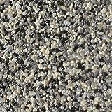 RyFo Colors Buntsteinputz 108: grau/schwarz/weiß Muster - Mosaikputz Sockelputz Granulat-Putz für innen und außen, Farbmuster, Marmor, lösemittelfrei, zertifiziert, witterungsbeständig