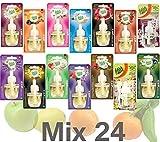 24x Fresh&More Nachfüllflakons Mix Passend Für E-Duftstecker - 19ml