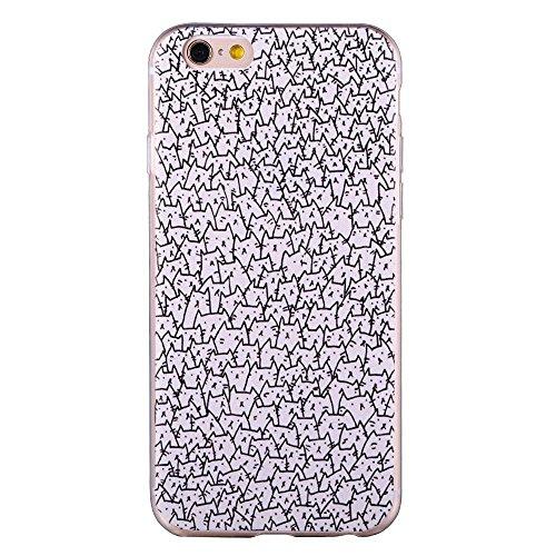 iPhone SE Coque, Cover ZQ-Link Ultra Slim peau souple Gel TPU Bumper Etui de protection pour Apple iPhone SE / 5S / 5 a lot of cats