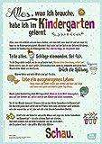 Alles, was ich brauche, habe ich im Kindergarten gelernt: DIN-A1 Plakat für Krippe, Kindergarten und Kita (Poster für die Öffentlichkeitsarbeit in Kitas und Grundschulen)