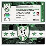 (50 x) Einladungskarten Geburtstag Fussball Kindergeburtstag Ticket Einladungen Grün