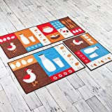 AZUO Suede Polyester Teppichboden Matte Haushalts Zimmer Küche Anti-Skid Pad Türmatte Verschleißfeste Absorbierende Fußpolster,C,S