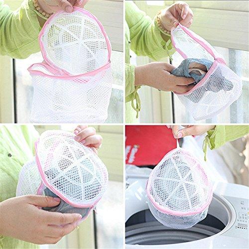 cdet Wäschesack Polyester Weiß Reißverschluss Saver Mesh Wash Korb Aufbewahrung Tasche Homeware Zubehör (Bag Mesh-bh Wash)