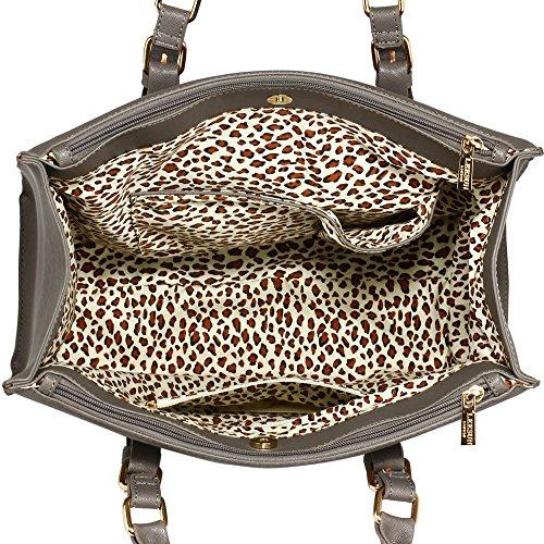 TrendStar Frauen Neuen Entwurfs Handtaschen Damen Leder Schulter Beutel Art Und Weisetote Large Mit Abnehmbarer Tasche (A - Burgund) C - Grau