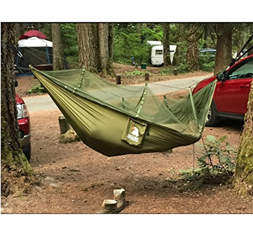 Camping Hammock with Mosquito Net - Outdoor Travel Hammock for Camping Hiking Backpacking 7