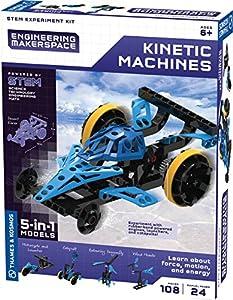 Thames & - Kosmos 555061 Kit de experimentos de ingeniería Makerspace para máquinas cinéticas, Multi
