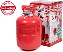 Alsino KAR-HE Heliumgasflasche Ballongas Heliumgas Einweg Helium Ballongas Geburtstag Hochzeit Folienballons für Ca. 50...