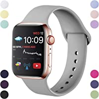 Hamile Strap Compatible With Apple Watch Series 5/4/3/2/1, Soft Silicone Waterproof Replacement Strap for Apple Watch...