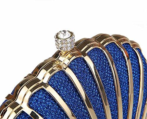 KAXIDY Borsa Pochette Da Sera Elegante Borsetta Borsa Tracolla Frizione Borse Sacchetto Blu