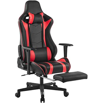 langria gaming chair schreibtischstuhl gaming stuhl kunstleder racing chefsessel sportsitz mit. Black Bedroom Furniture Sets. Home Design Ideas