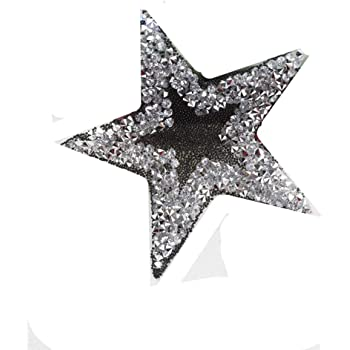 d88029c61 8.5cm Glitter Five-Point Star Design Hotfix Rhinestone Iron on Patches  Applique for Clothing Shoes Bags DIY Accesseries (color3-8.5CM)
