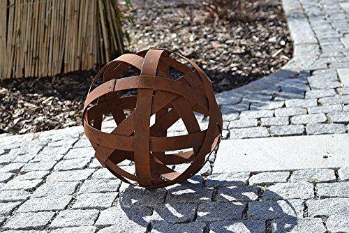 Boule Bandes rouille patine Décoration de jardin terrasse Décoration Fête des Mères cadeau