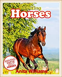 AMAZING HORSES: A Childrens Book About Amazing Horses Facts, Figures, Pictures: (Animal Books For Kids)