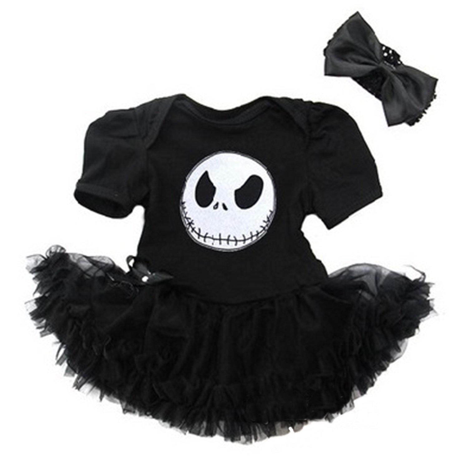 Halloween Nightmare Before Christmas Jack Baby Black Bodysuit ...
