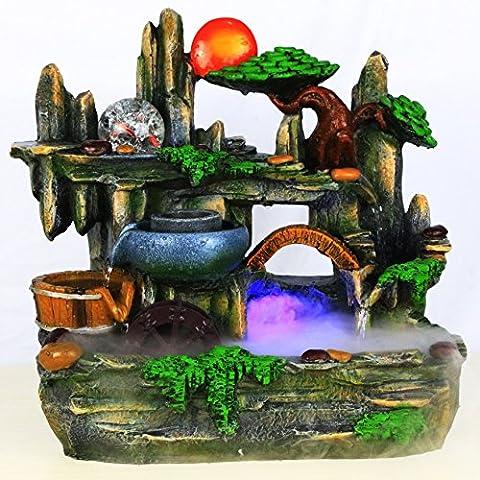 MYM Acqua isola giardino roccioso e l'acqua fontane arredamento casa mestiere regalo Tavoli ufficio decorazione (Tavolo Cornucopia)