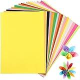 200 Fogli Carta Colorata A4 Stampante, 20 Colori Carta Origami, 80gsm Cartoncini Colorati A4 per Lavoretti Bambini Progetti A