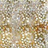 NQXXN Adesivi in   Vetro 3D, Decalcomanie Lucide con Paillettes Rotonde, Decorazioni murali per casa/Soggiorno/Camera da Letto/Adesivi per finestre in Vetro per pareti