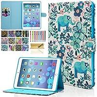 Dteck(TM) Funda para iPad Mini 1/2/3 - Funda Adorable para Niños Mujeres con Función de Auto Reposo/Activación, Ranuras, Soporte Integrado para Apple iPad Mini 1/2/3 7.9 Pulgadas, Elefante