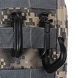 xhorizon TM FX Set aus 4 Multifunktions Taktische Schnalle Grimloc Verriegelung D-Ring für Molle Gurtband und Ausrüstung von Camping und Klettern - Schwarz -