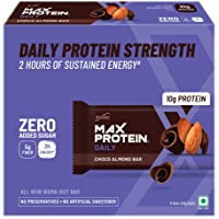 Ritebite Max Protein Daily Choco Almond Bars 300g - Pack of 6 (50g x 6)