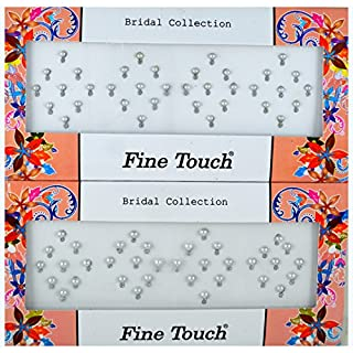 Fancy Bindis by Avx Fashion Crystal Stones Bridal Collections Bindi Tattoo Stickers Set of Many Style Body Adhesive Temporarely Jewelry (Z16)