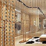 MOHOO 10m Türvorhang zehn Meter Hochzeit DIY Crystal Clear Acrylic Bead Garland hängende Partei Dekor Versorgung Perlenvorhänge Dekorieren Sie das Wohnzimmer, Hotel-Lobbys