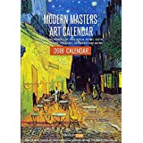 Best Selling Calendar 2018 - Modern Masters Art Wall Calendar for Home & Office by Tallenge