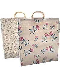 Large Capacity Shopping Bag/Grocery Bag/Vegetable Bag For Everyday Use Size: 43 X 48.5 X 16.5 Cm (2 Pcs) - Multiple...