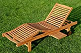 ASS ECHT TEAK Sonnenliege Gartenliege Strandliege Holzliege Holz vielfach verstellbar
