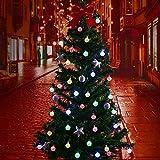 Solar Lichterkette Außen mit 40 Led Kupeln, TryLight 7.5m Bunt LED lichterketten, Wasserdicht Weihnachtsbeleuchtung für Garten, Party, Bäume,Halloween