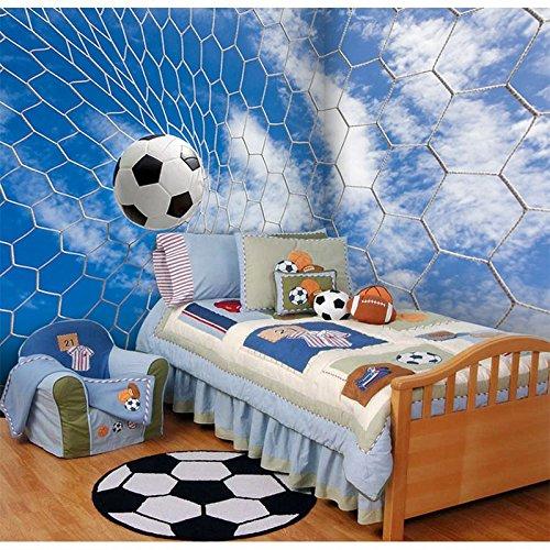 Bzdhwwh foto wallpaper serie di calcio 3d wallpaper stadium ktv tema hotel soggiorno decorazione porta da calcio bianco carta da parati murale,250cm (h) x 375cm (w)
