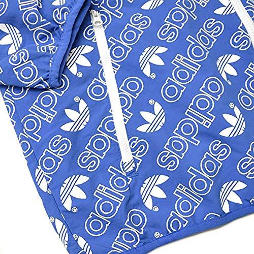 Adidas Men's AOP Windbre Windbreaker Jacket (XXL, Blue) (Adidas Aop Jacke)