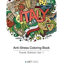 Anti-Stress Coloring Book: Travel Edition Vol 1