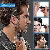 HECARE 3-in-1 Nasenhaarschneider wasserdichter Edelstahlnasenhaarschneider,Herren Nasenhaarrasierer,Nasen- und Ohrhaarschneider