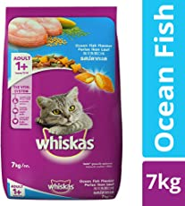 Whiskas Dry Cat Food, Ocean Fish for Adult cats, 7 kg
