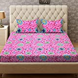 Bombay Dyeing Double Bedsheet with 2 Pillow Cover - Pink