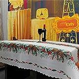 Coscelia Tovaglia da Tavola Motivo di Dadi di Pino Decorazione Natale Tovaglie Natalizie Festa