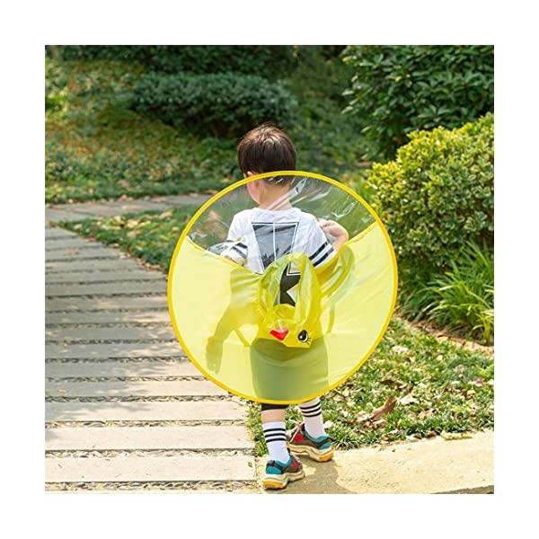 Sencillo Vida Chubasquero Niños, Impermeable Chaqueta de Lluvia con Capucha, Diseño de Pato, Plegable, Raincoat Niño… 2