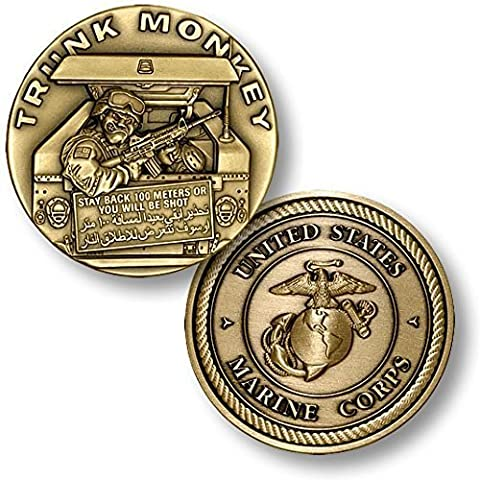 Trunk Monkey - Marines Challenge Coin by Northwest Territorial Mint