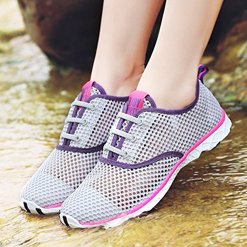Joansam da donna, asciugatura rapida acqua Aqua scarpe Grey